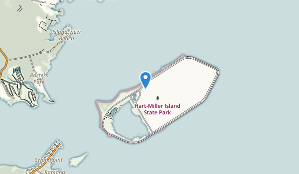trail locations for Hart-Miller Island State Park