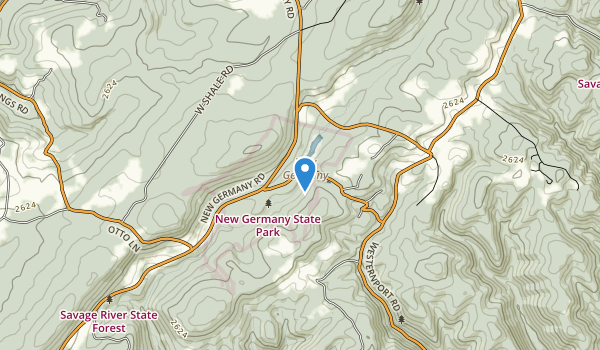New Germany State Park Map