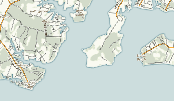 Newtowne Neck State Park Map