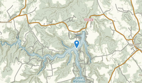 Lake Malone State Park Map