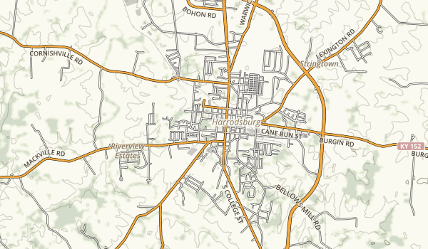 Old Fort Harrod State Park Map