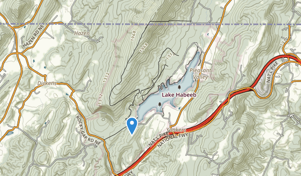 trail locations for Rocky Gap State Park