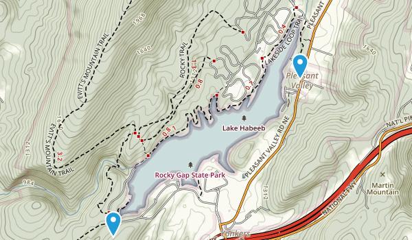 Rocky Gap State Park Map
