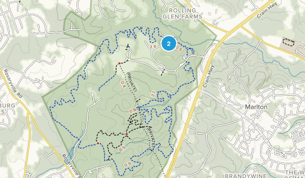 Rosaryville State Park Map