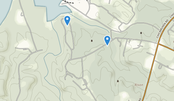 trail locations for Smallwood State Park