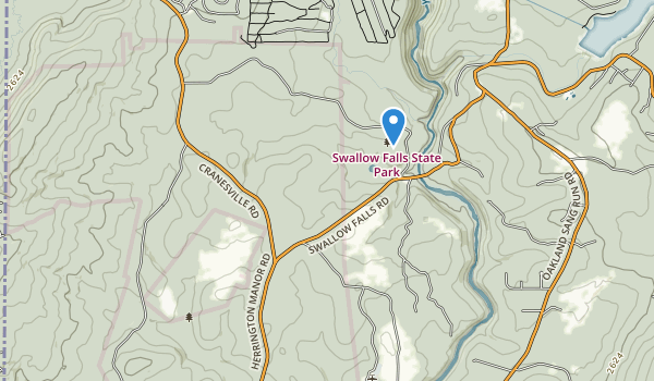 trail locations for Swallow Falls State Park