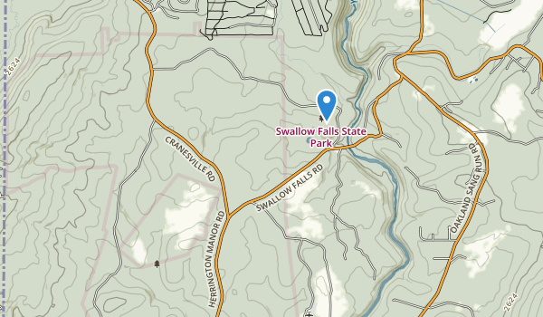 Swallow Falls State Park Map