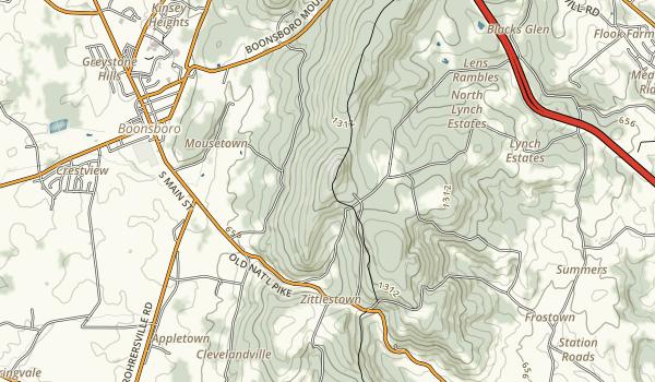 Washington Monument State Park Map