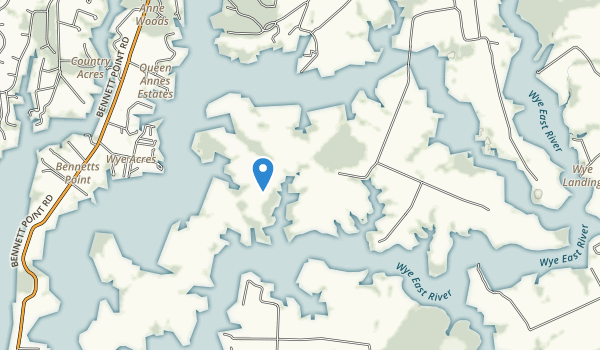 Wye Island Natural Resource Management Area Map