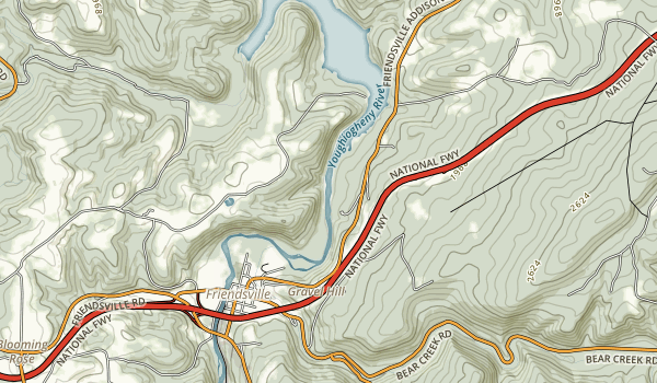 Youghiogheny Scenic & Wild River Map