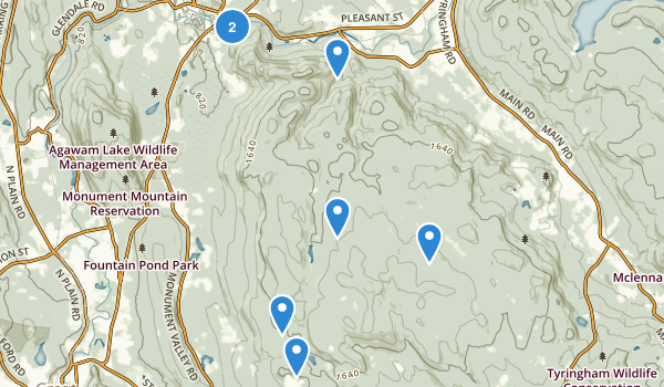 Beartown State Forest Map