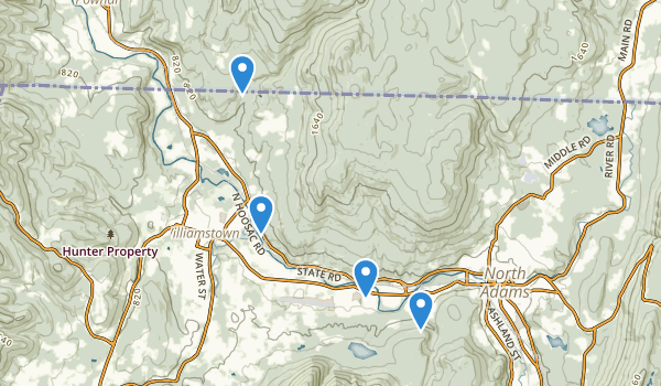 trail locations for Clarksburg State Park