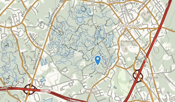 trail locations for F. Gilbert Hills State Forest