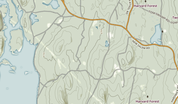 Federated Women's Club State Forest Map