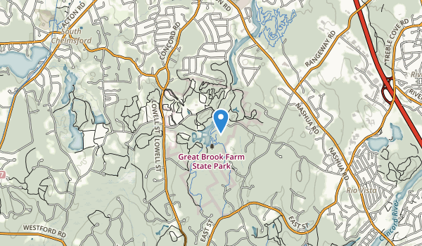 trail locations for Great Brook Farm State Park