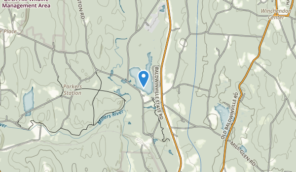 trail locations for Lake Dennison Recreation Area