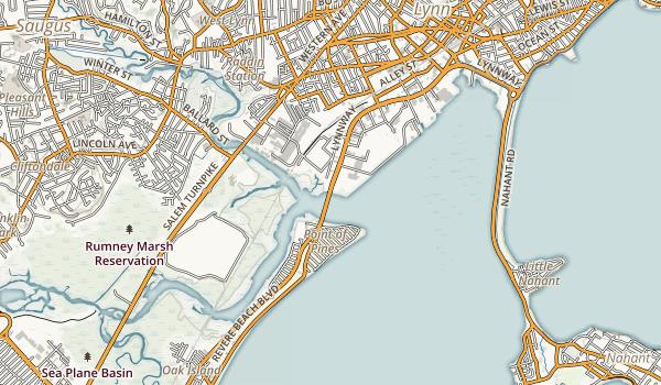 Lynn Shore & Nahant Beach Reservation Map