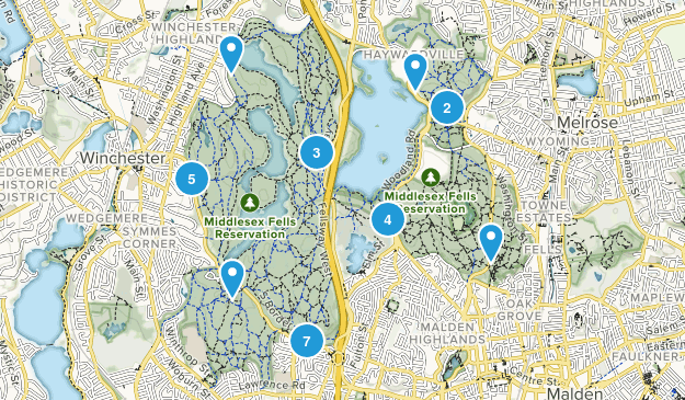 Middlesex Fells Reservation Map