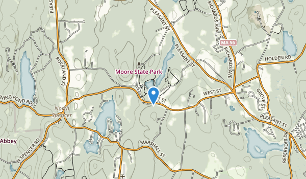 trail locations for Moore State Park