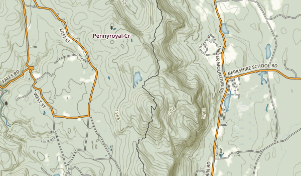Mount Everett State Reservation Map