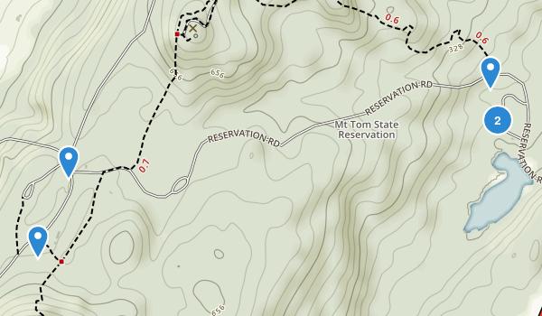 Mount Tom State Reservation Map