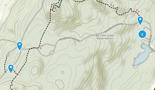 Mount Tom State Reservation Map
