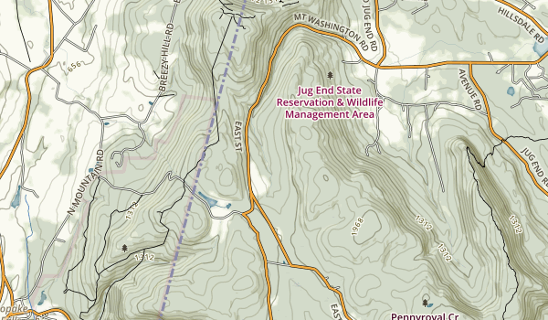 Mount Washington State Forest Map