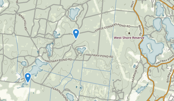 trail locations for Myles Standish State Forest