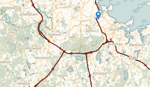 Neponset River Reservation Map