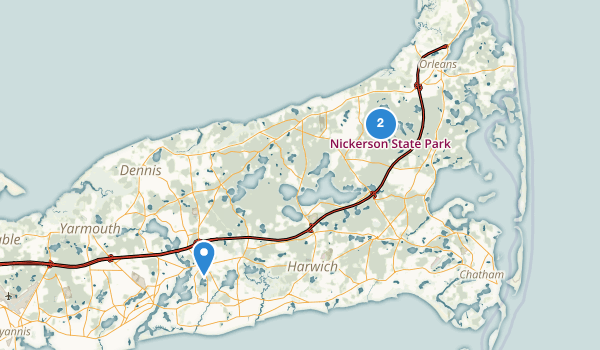 trail locations for Nickerson State Park