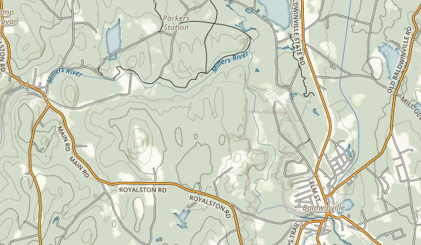 Otter River State Forest Map