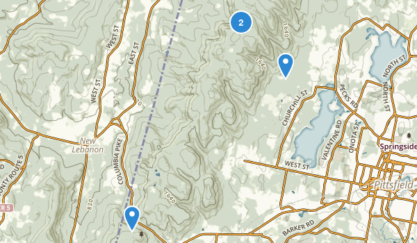 Pittsfield State Forest Map