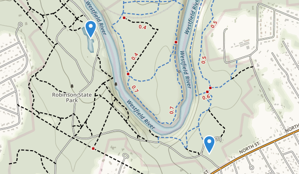 trail locations for Robinson State Park