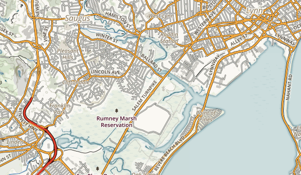 Rumney Marsh Reservation Map