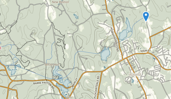 trail locations for Rutland State Park