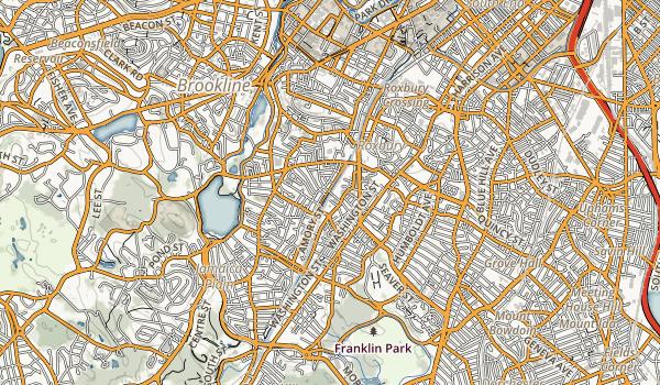 Southwest Corridor Park Map