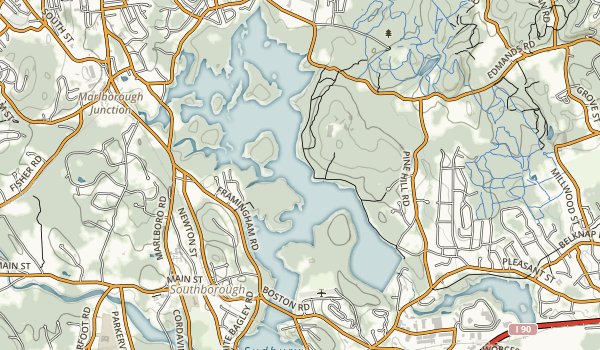 Sudbury Reservoir Map