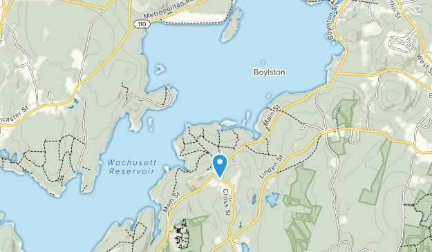 Wachusett Reservoir Map