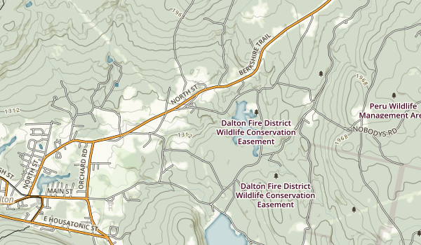 Wahconah Falls State Park Map