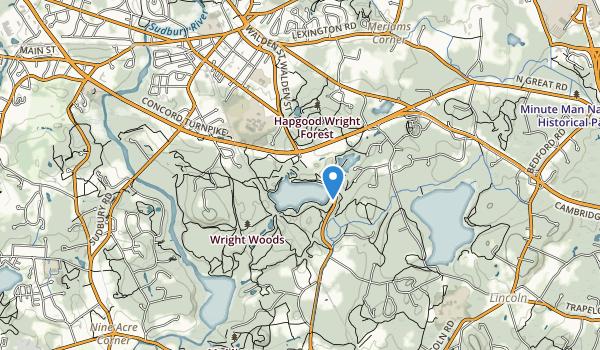 Walden Pond State Reservation Map
