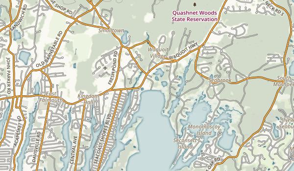 Waquoit Bay National Estuarine Research Reserve Map