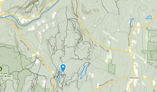 Wendell State Forest Map