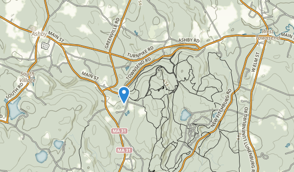 Willard Brook State Forest Map