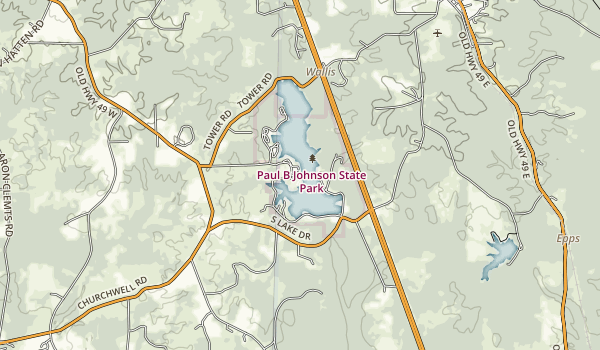 Paul B. Johnson Map