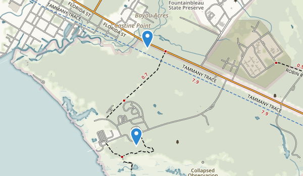 Fontainebleau State Park Map