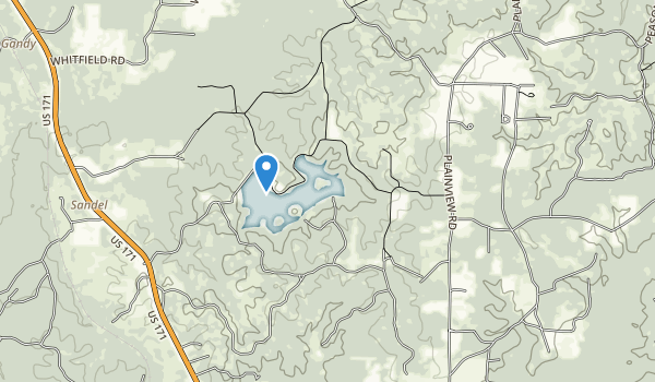 trail locations for Hodges Gardens State Park