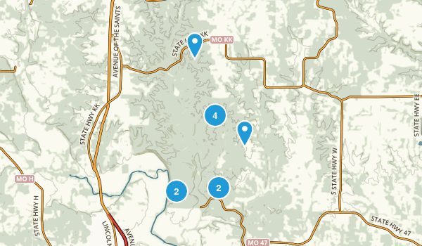 Cuivre River State Park Map