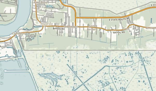 St. Bernard State Park Map