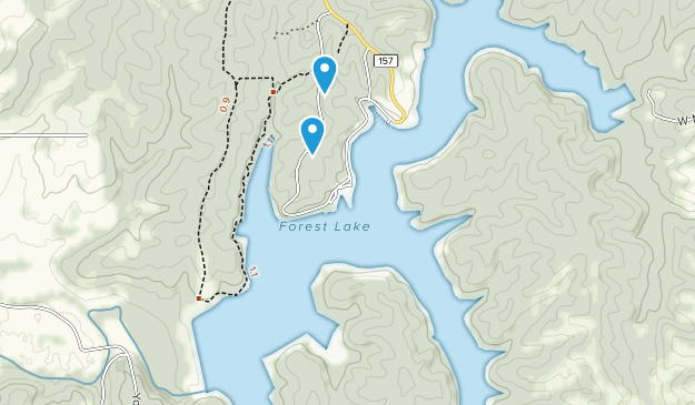 Thousand Hills State Park Map