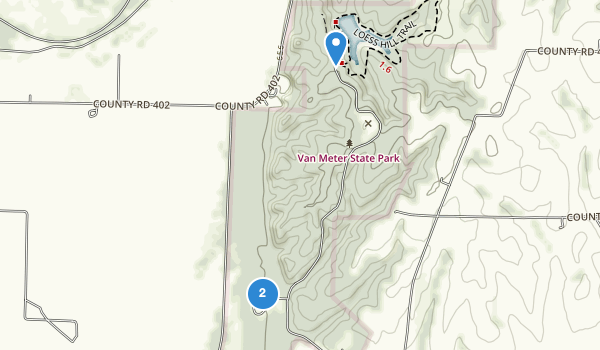 trail locations for Van Meter State Park